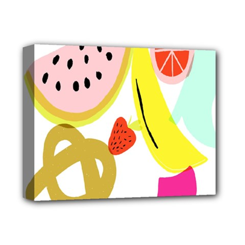 Fruit Watermelon Strawberry Banana Orange Shoes Lime Deluxe Canvas 14  x 11