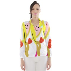 Fruit Watermelon Strawberry Banana Orange Shoes Lime Wind Breaker (Women)