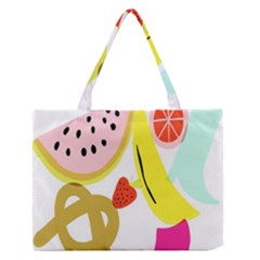 Fruit Watermelon Strawberry Banana Orange Shoes Lime Medium Zipper Tote Bag