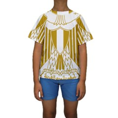 Coat of Arms of Egypt Kids  Short Sleeve Swimwear