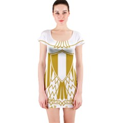 Coat of Arms of Egypt Short Sleeve Bodycon Dress