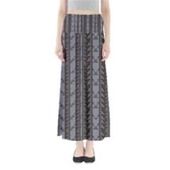 Gray Powder Blue Fins Women s Maxi Skirt