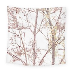 Textured Nature Print Square Tapestry (large)