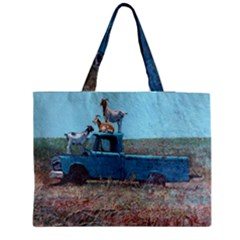 Goats on a Pickup Truck Medium Tote Bag
