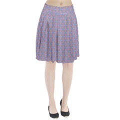 Tropical Fish Blue Pleated Skirt