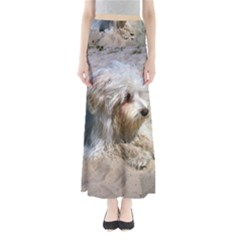 Maltese On Beach Maxi Skirts