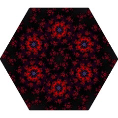 Fractal Abstract Blossom Bloom Red Mini Folding Umbrellas