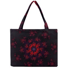 Fractal Abstract Blossom Bloom Red Mini Tote Bag