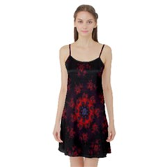 Fractal Abstract Blossom Bloom Red Satin Night Slip