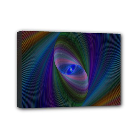 Ellipse Fractal Computer Generated Mini Canvas 7  X 5