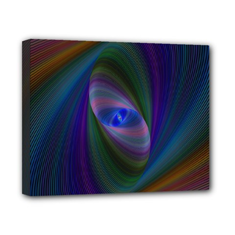 Ellipse Fractal Computer Generated Canvas 10  x 8