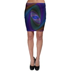 Ellipse Fractal Computer Generated Bodycon Skirt