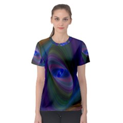 Ellipse Fractal Computer Generated Women s Sport Mesh Tee