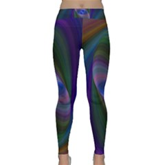 Ellipse Fractal Computer Generated Classic Yoga Leggings