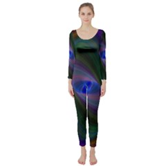 Ellipse Fractal Computer Generated Long Sleeve Catsuit