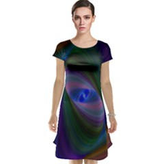 Ellipse Fractal Computer Generated Cap Sleeve Nightdress