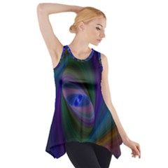 Ellipse Fractal Computer Generated Side Drop Tank Tunic