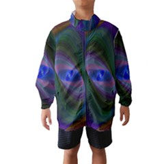 Ellipse Fractal Computer Generated Wind Breaker (Kids)