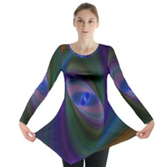 Ellipse Fractal Computer Generated Long Sleeve Tunic