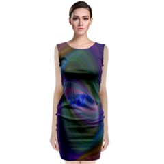 Ellipse Fractal Computer Generated Classic Sleeveless Midi Dress