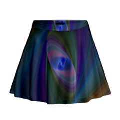 Ellipse Fractal Computer Generated Mini Flare Skirt