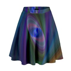 Ellipse Fractal Computer Generated High Waist Skirt