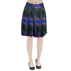Ellipse Fractal Computer Generated Pleated Skirt