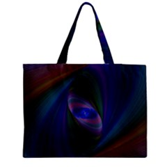 Ellipse Fractal Computer Generated Medium Zipper Tote Bag