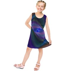 Ellipse Fractal Computer Generated Kids  Tunic Dress