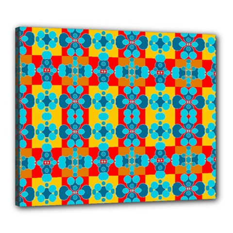 Pop Art Abstract Design Pattern Canvas 24  X 20