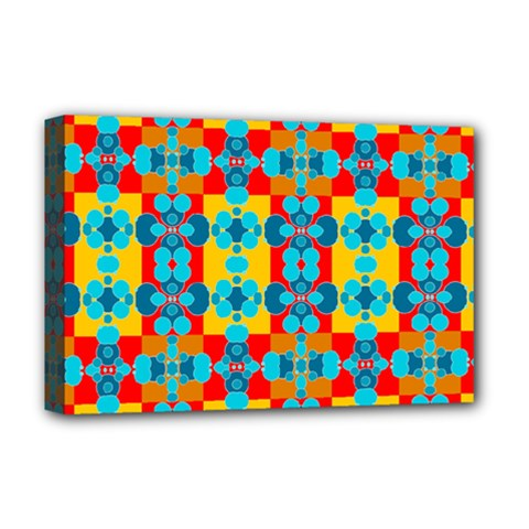 Pop Art Abstract Design Pattern Deluxe Canvas 18  X 12