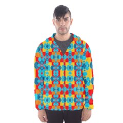 Pop Art Abstract Design Pattern Hooded Wind Breaker (men)