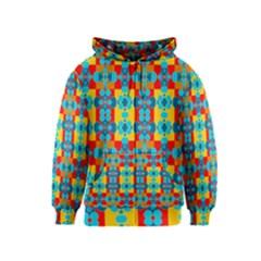 Pop Art Abstract Design Pattern Kids  Zipper Hoodie