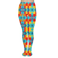 Pop Art Abstract Design Pattern Women s Tights