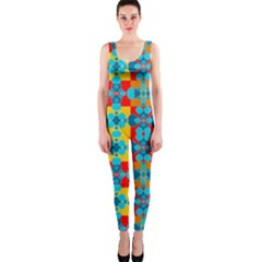 Pop Art Abstract Design Pattern Onepiece Catsuit