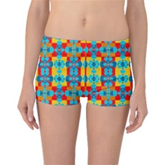 Pop Art Abstract Design Pattern Boyleg Bikini Bottoms