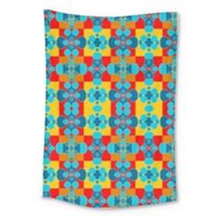 Pop Art Abstract Design Pattern Large Tapestry