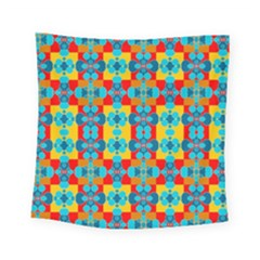 Pop Art Abstract Design Pattern Square Tapestry (small)