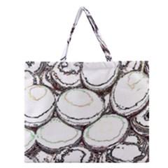 Eggs Zipper Large Tote Bag