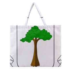 Coat of Arms of Equatorial Guinea Zipper Large Tote Bag