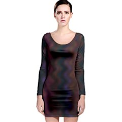 Extensions Long Sleeve Bodycon Dress