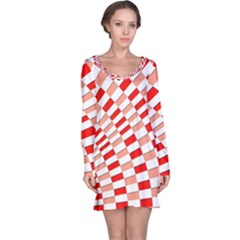 Graphics Pattern Design Abstract Long Sleeve Nightdress