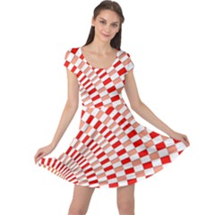 Graphics Pattern Design Abstract Cap Sleeve Dresses