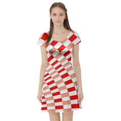 Graphics Pattern Design Abstract Short Sleeve Skater Dress