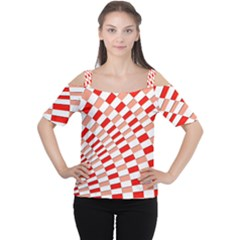 Graphics Pattern Design Abstract Women s Cutout Shoulder Tee