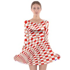 Graphics Pattern Design Abstract Long Sleeve Skater Dress