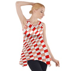 Graphics Pattern Design Abstract Side Drop Tank Tunic