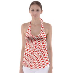 Graphics Pattern Design Abstract Babydoll Tankini Top
