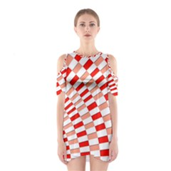 Graphics Pattern Design Abstract Shoulder Cutout One Piece