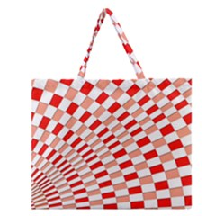 Graphics Pattern Design Abstract Zipper Large Tote Bag